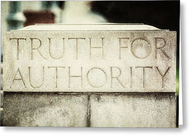 Mott Greeting Cards - Lucretia Mott Truth for Authority Greeting Card by Lisa Russo
