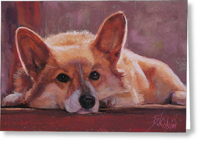Back Pastels Greeting Cards - Lucy Greeting Card by Billie Colson