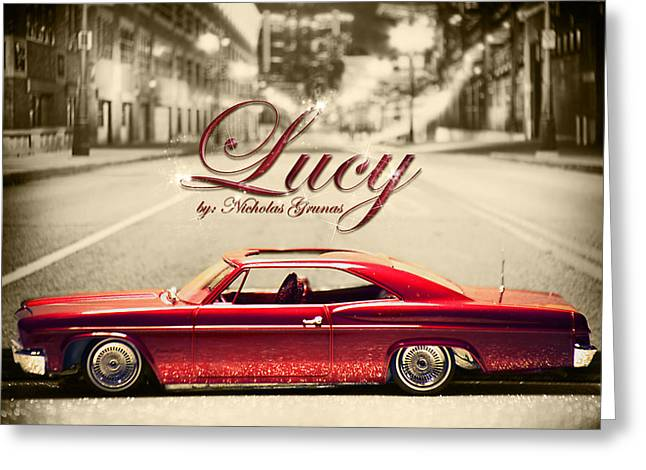 I Love Lucy Greeting Cards - Lucy In The D Greeting Card by B And G Art