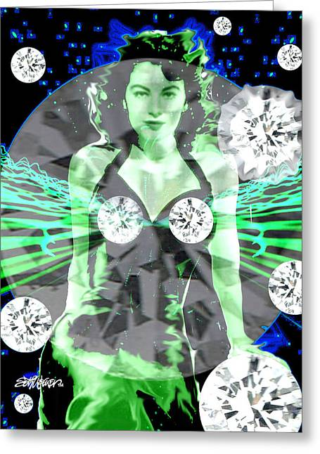Lonely Hearts Club Band Greeting Cards - Lucy in the Sky with Diamonds Greeting Card by Seth Weaver