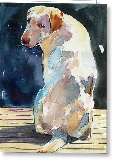 Labrador Greeting Cards - Lucy Moon Greeting Card by Molly Poole