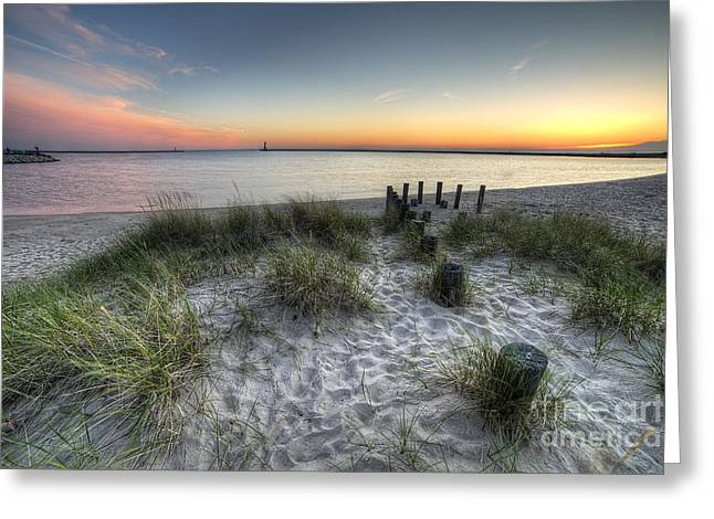 Ludington State Park Greeting Cards - Ludington Beach Greeting Card by Twenty Two North Photography