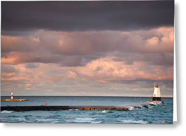 Sailing Greeting Cards - Ludington Greeting Card by Sebastian Musial