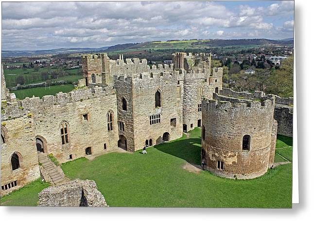 St Mary Magdalene Photographs Greeting Cards - Ludlow Castle Chapel and Great Hall Greeting Card by Tony Murtagh