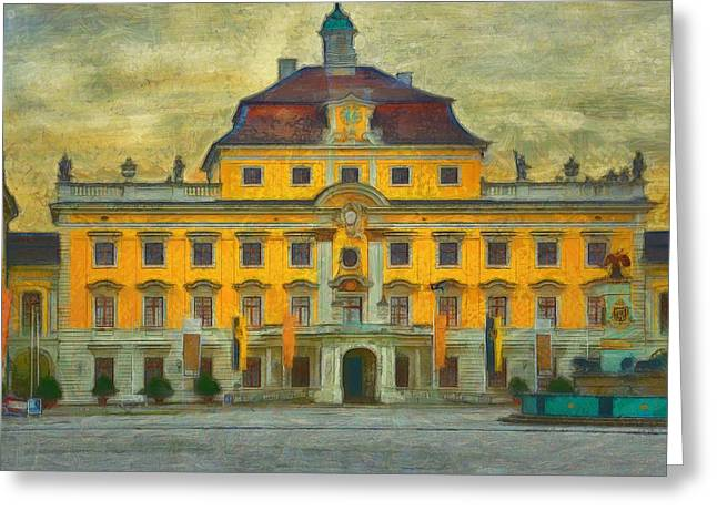 Van Gogh Style Greeting Cards - Ludwigsburg Palace  Greeting Card by L Wright