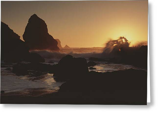 California Beach Greeting Cards - Luffenholtz Beach Ca Usa Greeting Card by Panoramic Images