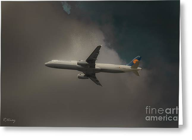 Lufthansa Greeting Cards - Lufthansa A320 Airbus Greeting Card by Rene Triay Photography