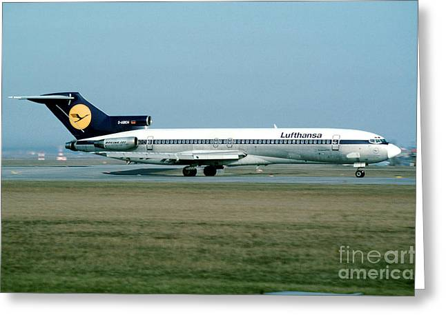 Star Alliance Airline Photographs Greeting Cards - Lufthansa Boeing 727 Greeting Card by Wernher Krutein