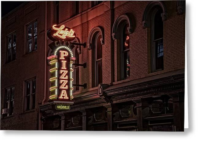 Nashville Tennessee Greeting Cards - Luigis Pizza Greeting Card by Rick Berk