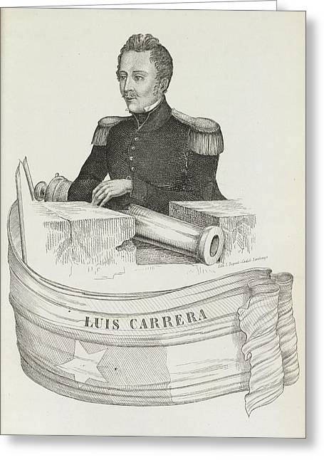 Luis Carrera Greeting Card by British Library