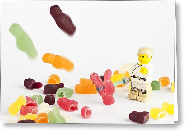 Lego Greeting Cards - Luke Doesnt Like Jelly Babies Greeting Card by Samuel Whitton