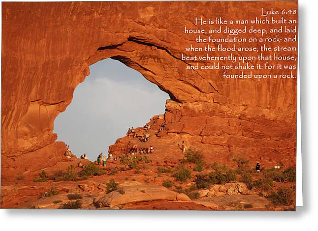 Kingjames Greeting Cards - Arches Luke 6-48 Greeting Card by Nelson Skinner