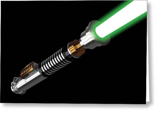 Emitters Greeting Cards - Lukes Lightaber III Greeting Card by Nathan Shegrud