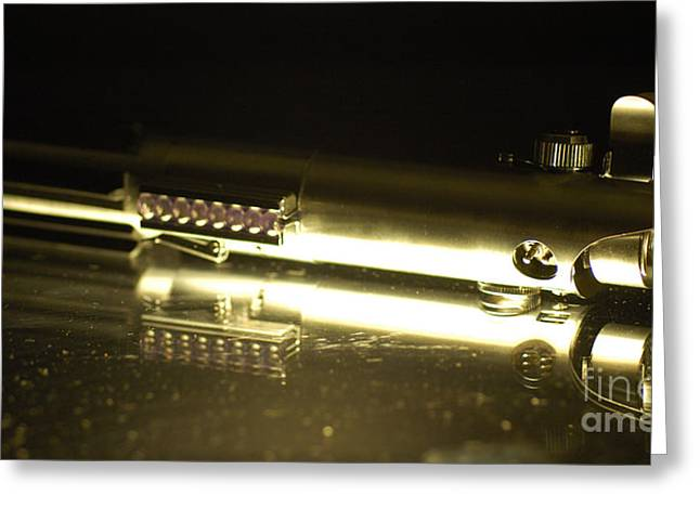 Movie Prop Greeting Cards - Lukes Lightsaber 1 Greeting Card by Micah May