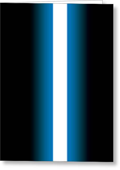 Emitters Greeting Cards - Lukes Lightsaber I Greeting Card by Nathan Shegrud