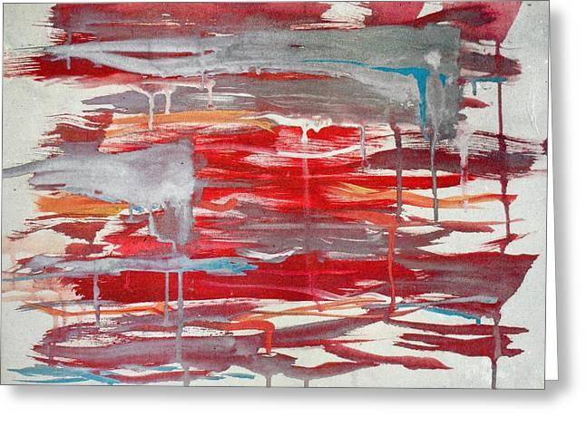 Epic Amazing Colors Landscape Digital Modern Still Life Trees Warm Natural Earth Organic Paint Chic Decor Interior Design Brett Pfister Art Digital Art Greeting Cards - Lukisan Greeting Card by Brett Pfister