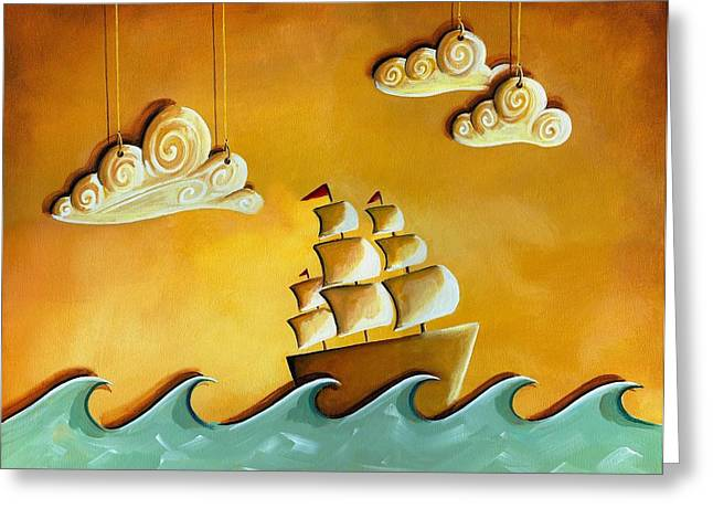 Clippers Paintings Greeting Cards - Lullaby Bay Greeting Card by Cindy Thornton
