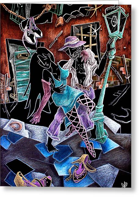In Vendita Greeting Cards - LuLTiMo TanGo - Artisti Pittori Veneziani Contemporanei Greeting Card by Arte Venezia