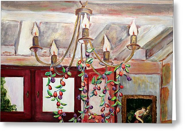 Linda Queally Greeting Cards - Lumiere Greeting Card by Linda Queally