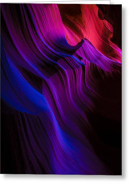 Slot Canyon Greeting Cards - Luminary Peace Greeting Card by Chad Dutson