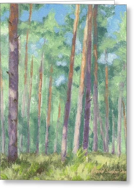 Paysage A L Greeting Cards - Luminosity in the forest - Luminosite dans la foret Greeting Card by David Ormond