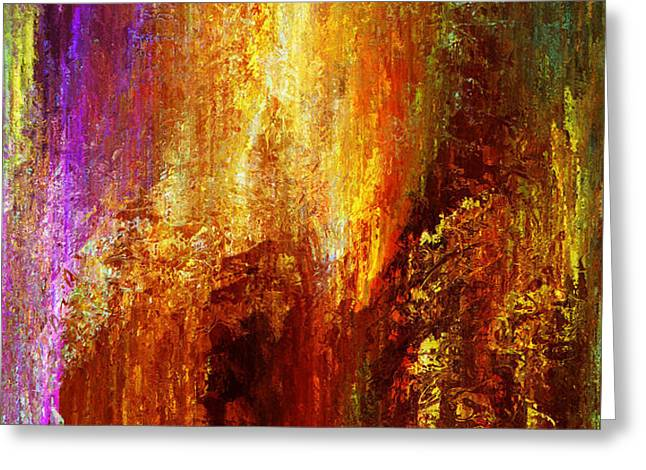 Abstract Art On Canvas Greeting Cards - Luminous - Abstract Art Greeting Card by Jaison Cianelli