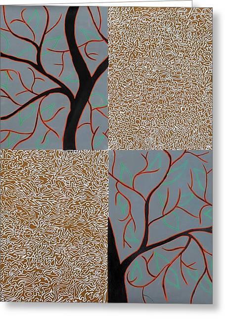 Luminous Tree Of Barsoom Greeting Card by Sumit Mehndiratta