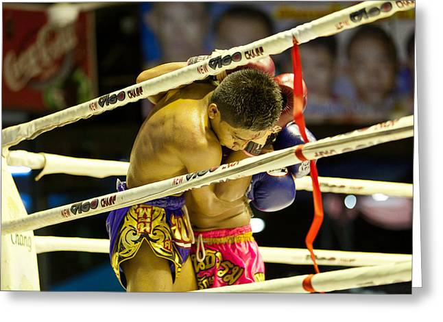 Bangkok Greeting Cards - Lumpinee Boxing Stadium Greeting Card by Kristin Lau