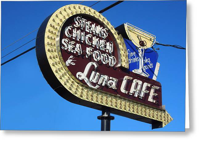 Sea Route Greeting Cards - Luna Cafe Greeting Card by Todd Baxter