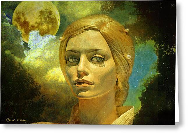 Portraits Greeting Cards - Luna in the Garden of Evil Greeting Card by Chuck Staley