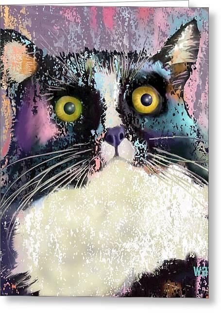 Tuxedo Greeting Cards - Luna Greeting Card by Marlene Watson