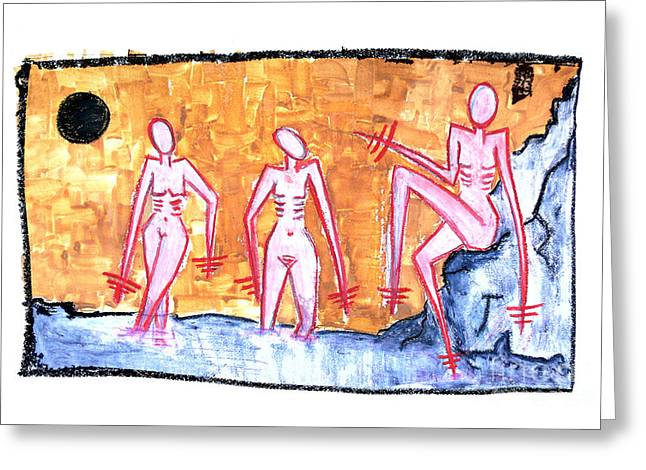 Artprint Pastels Greeting Cards - Luna Greeting Card by Natalia E Woytasik