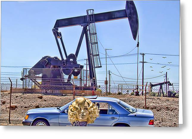 Ladies Of Rodeo Drive Greeting Cards - Luna Oil Greeting Card by Chuck Staley