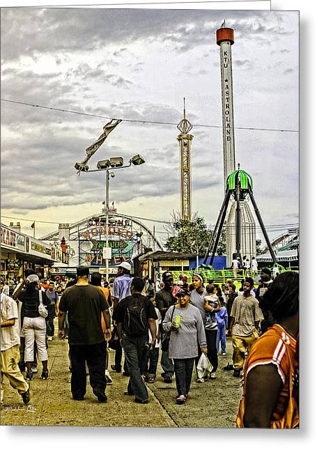 Luna Photographs Greeting Cards - Luna Park - Coney Island - Bklyn - NY Greeting Card by Madeline Ellis