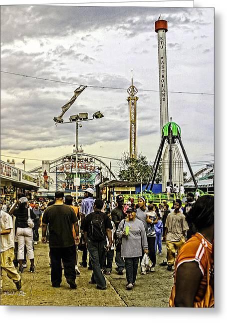 Luna Greeting Cards - Luna Park - Coney Island - Bklyn - NY Greeting Card by Madeline Ellis