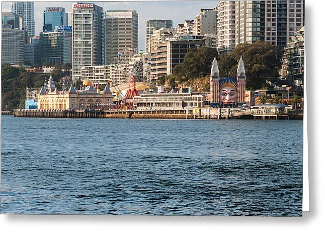 Luna Greeting Cards - Luna Park On Milsons Point, Sydney, New Greeting Card by Panoramic Images