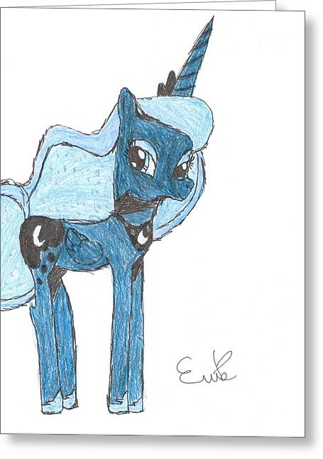 Luna Drawings Greeting Cards - Luna Greeting Card by Rhapsody Forever