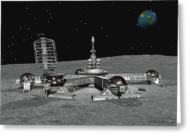 Lunar Base Greeting Cards - Lunar Base Greeting Card by Michael Wimer