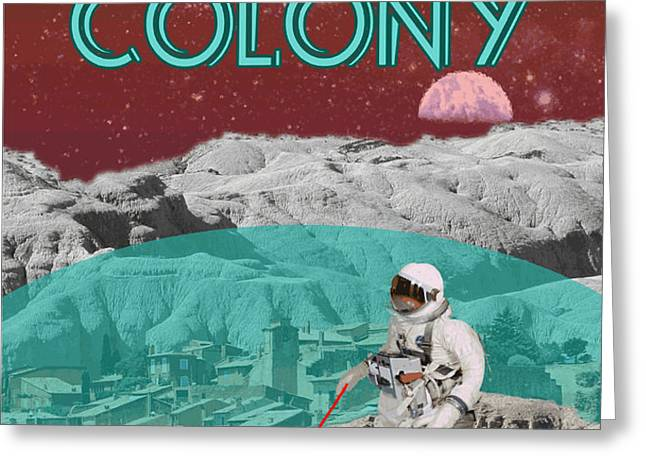 Lunar Colony Coming Soon Advertisement Greeting Card by