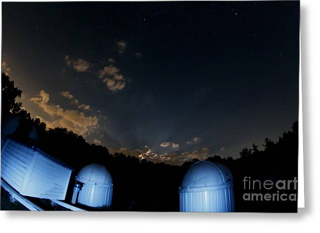 Moonbeam Greeting Cards - Lunar Crepuscular Rays Greeting Card by John Chumack