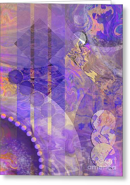 Lunar Mixed Media Greeting Cards - Lunar Impressions 2 Greeting Card by John Robert Beck