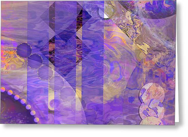 Lunar Mixed Media Greeting Cards - Lunar Impressions 2 - Square Version Greeting Card by John Robert Beck