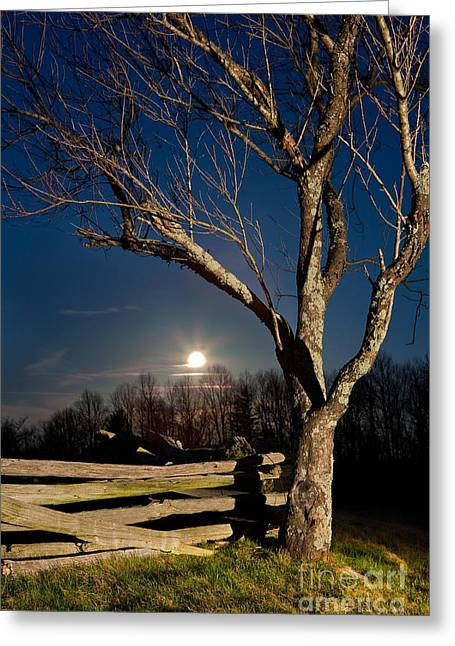 Lunar Landing - Blue Ridge Parkway Greeting Card by Dan Carmichael