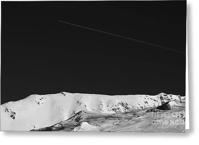 And Serenity. In Contrast Greeting Cards - Lunar landscape Greeting Card by Simona Ghidini