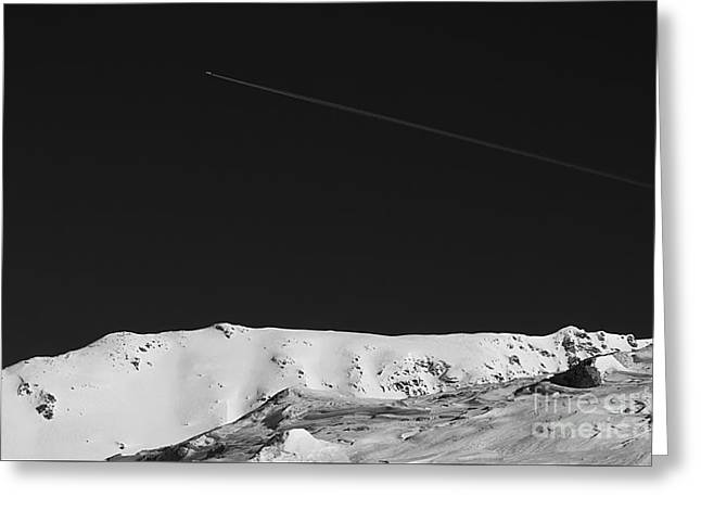 Black Top Greeting Cards - Lunar landscape Greeting Card by Simona Ghidini