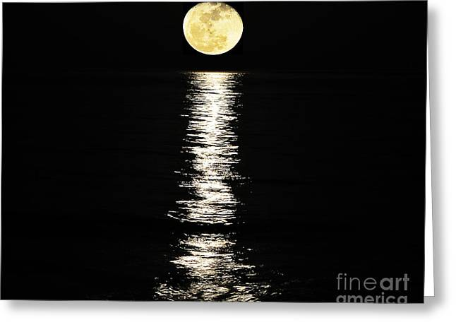 Large Moon Greeting Cards - Lunar Lane 02 Greeting Card by Al Powell Photography USA