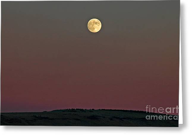 Drifter Photographs Greeting Cards - Lunar Over Indian Ridge Greeting Card by Nick  Boren
