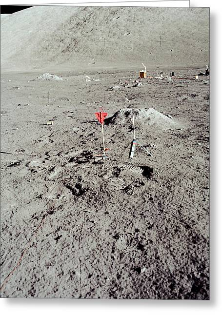 Lunar Seismic Profling Experiment Greeting Card by Nasa