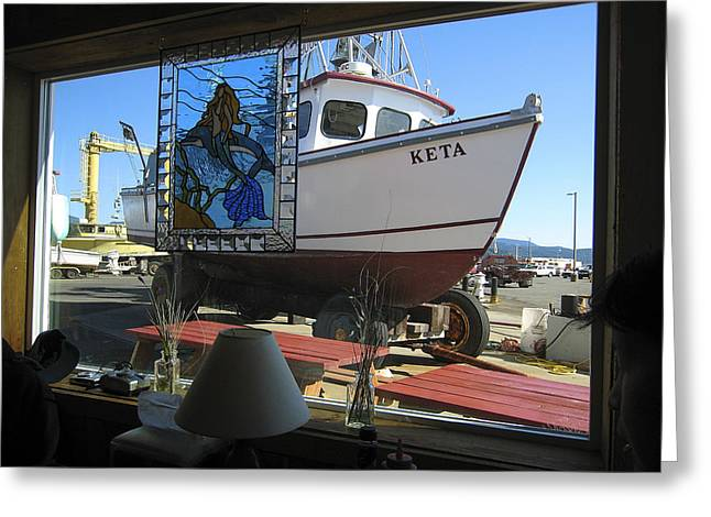 Lunch At Griffs On The Coast Greeting Card by Daniel Hagerman