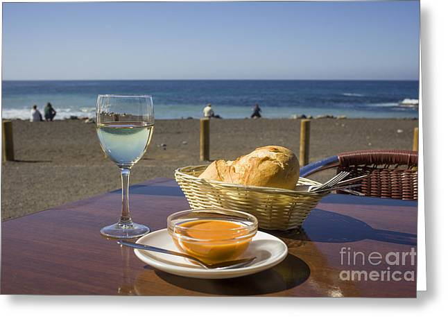 Lunch At The Beach Greeting Card by Patricia Hofmeester